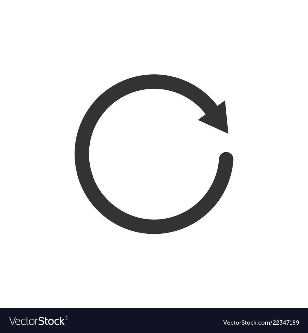 Circle arrow icon flat