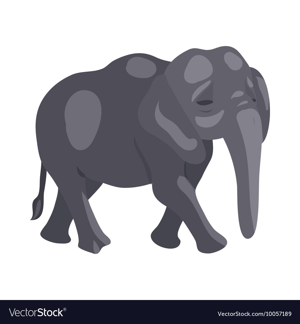 Elephant icon cartoon style