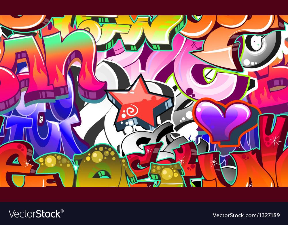 Graffiti Urban Art Background vector image