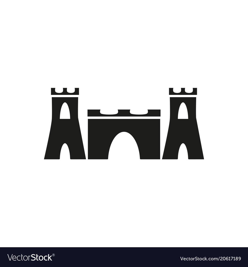 Sand castle icon Royalty Free Vector Image - VectorStock