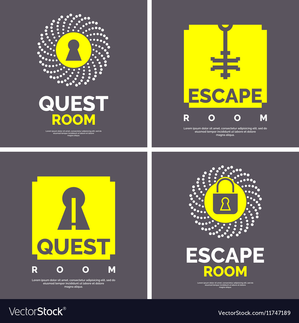 The emblem for the quest room vector image