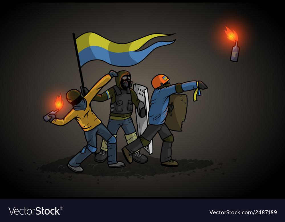 Ukrainian Revolution vector image