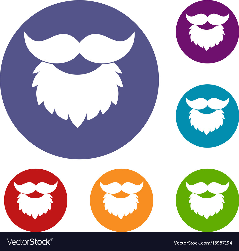 Beard and mustache icons set
