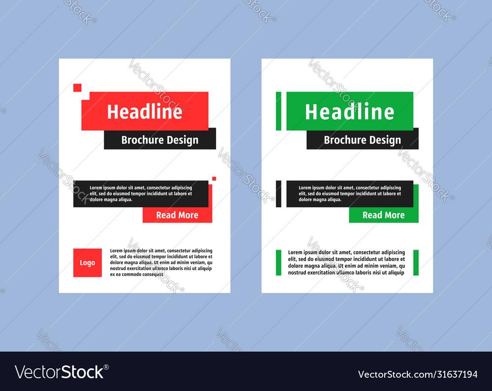 Brochure design like flyer cover layout