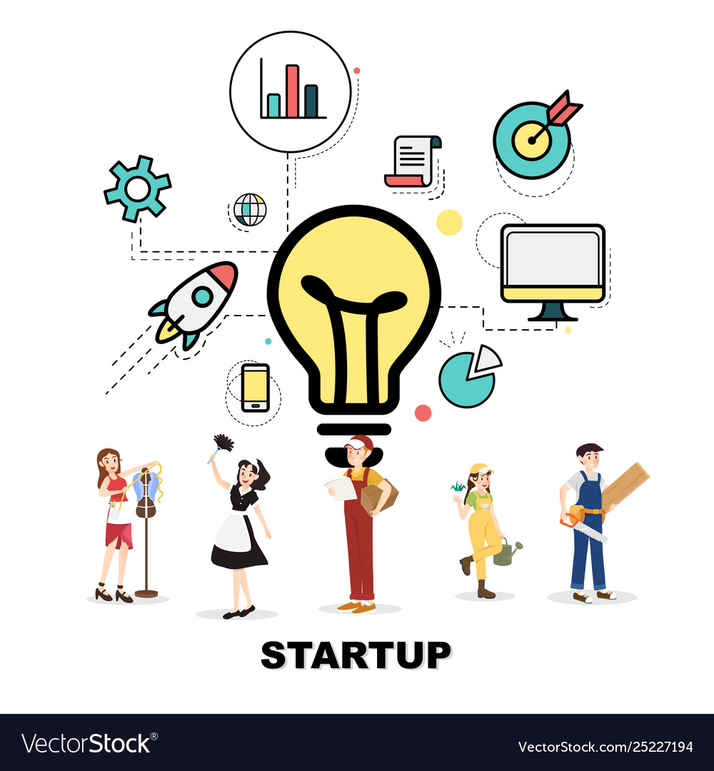 Career service with startup concept