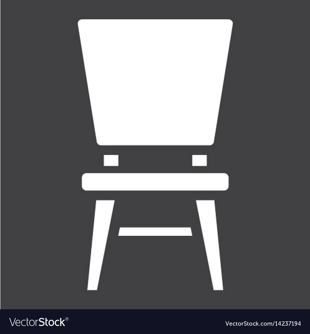 Chair solid icon furniture and interior vector image