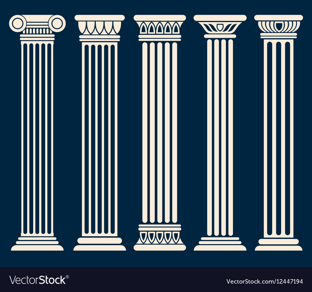 Classic roman greek architecture columns