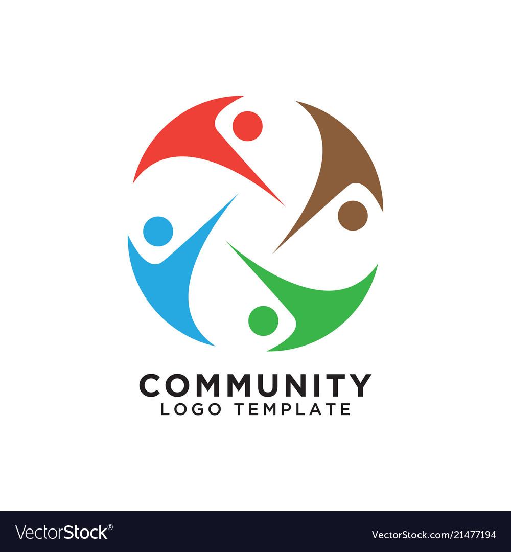 Community organization logo design template