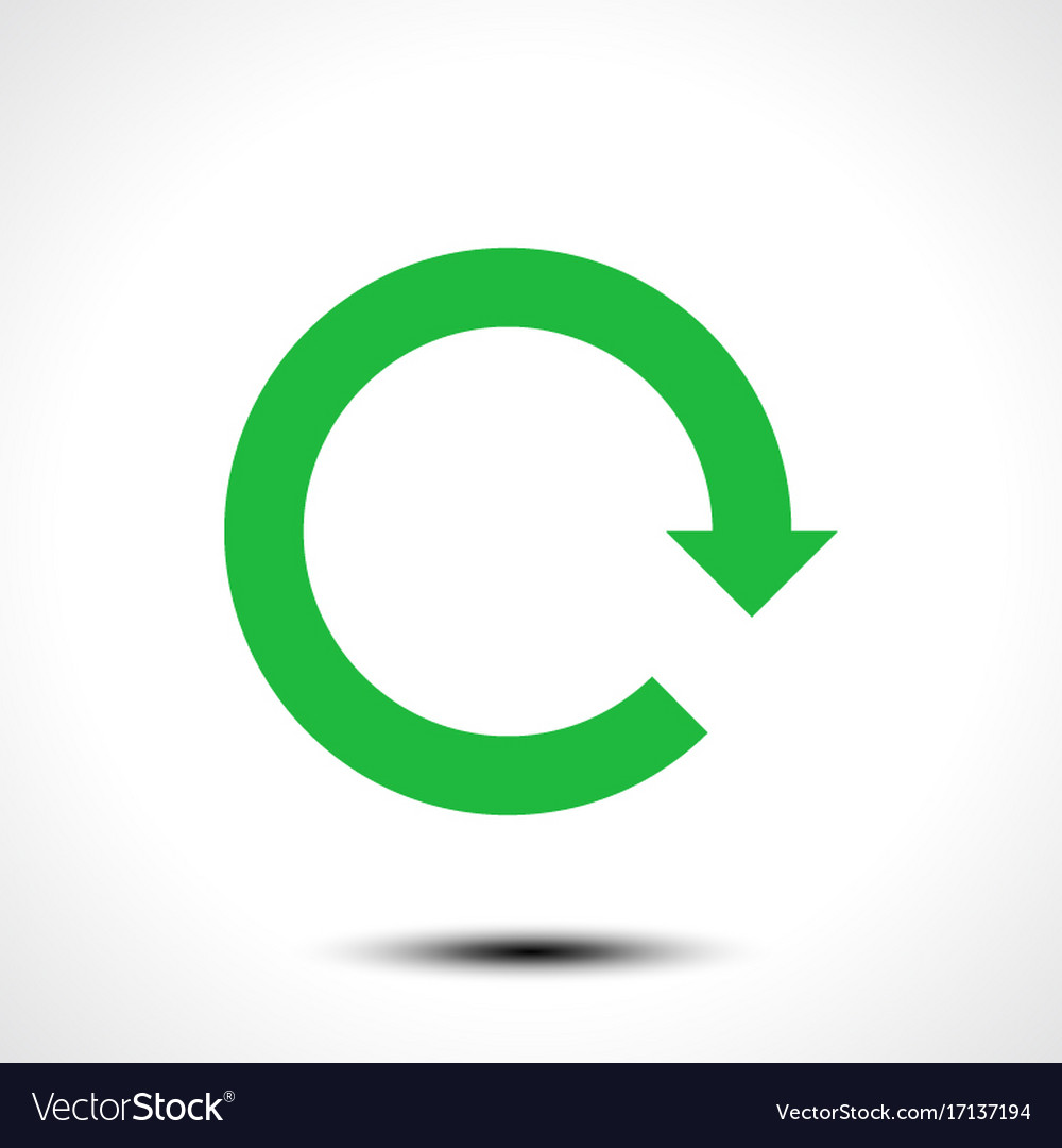 Green arrow icon reload refresh rotation reset