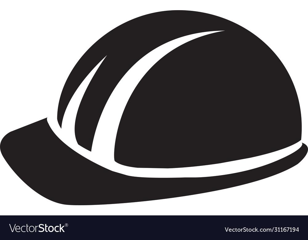 Hard hat builder man black symbol