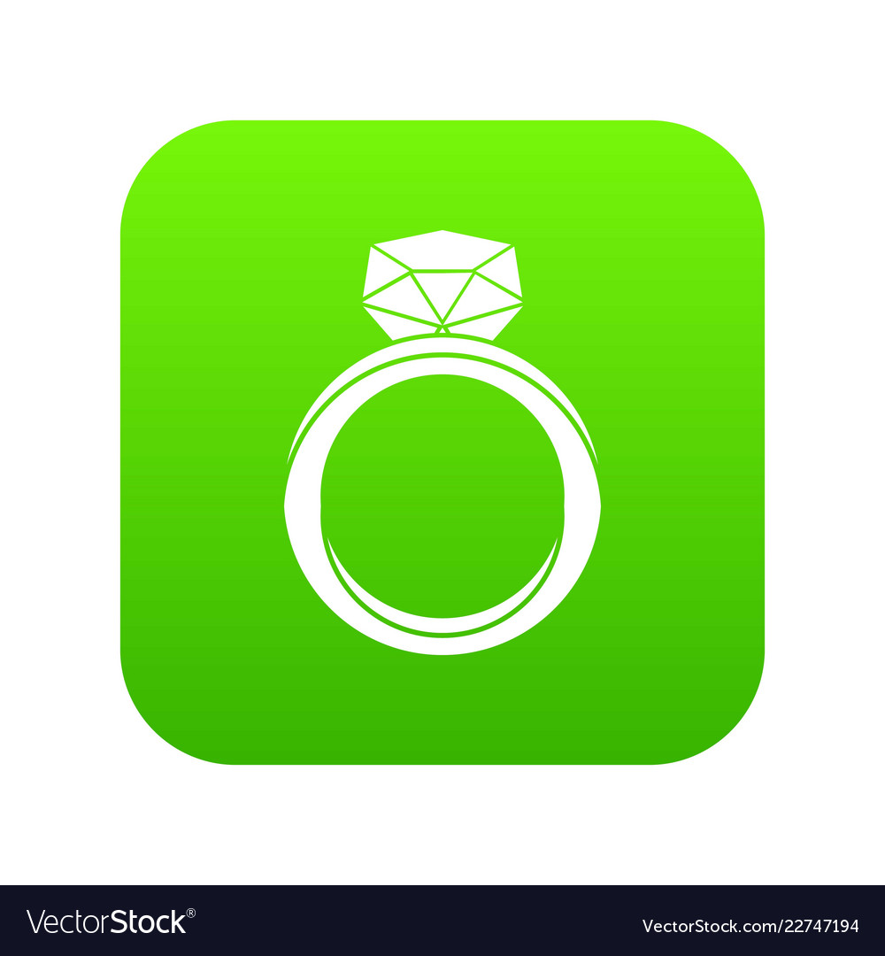 Wedding Ring Icon Digital Green Vector Image