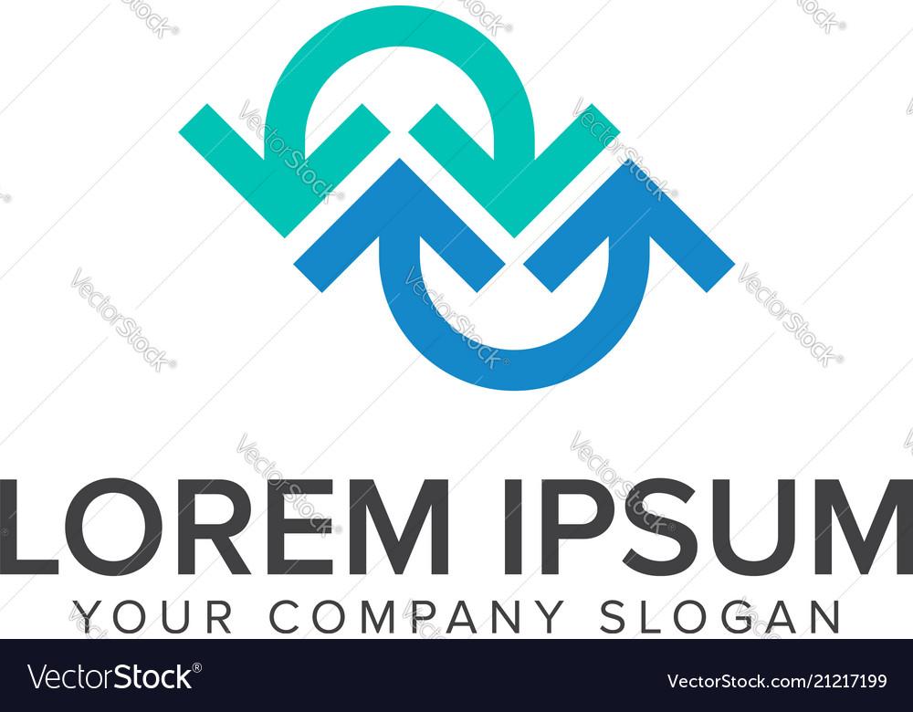 Arrow logo design concept template