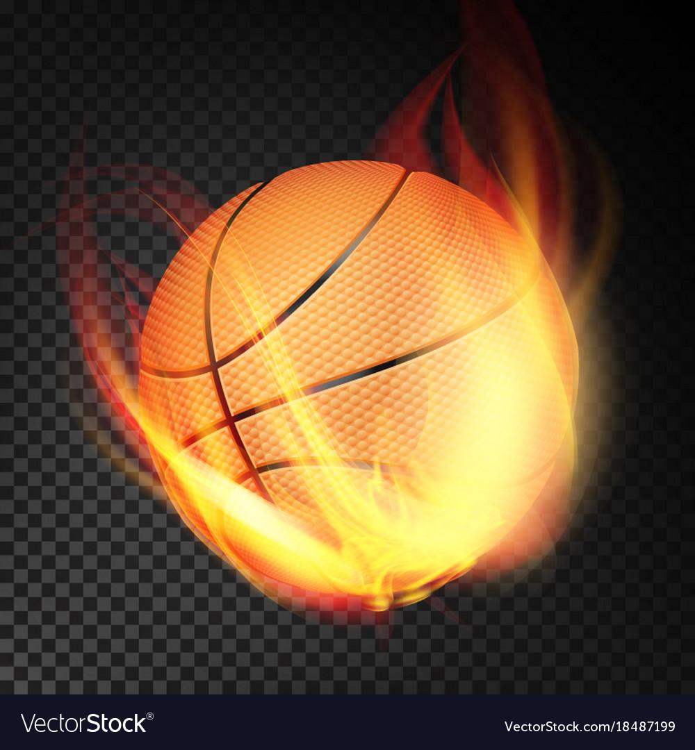 Basketball ball realistic orange vector image