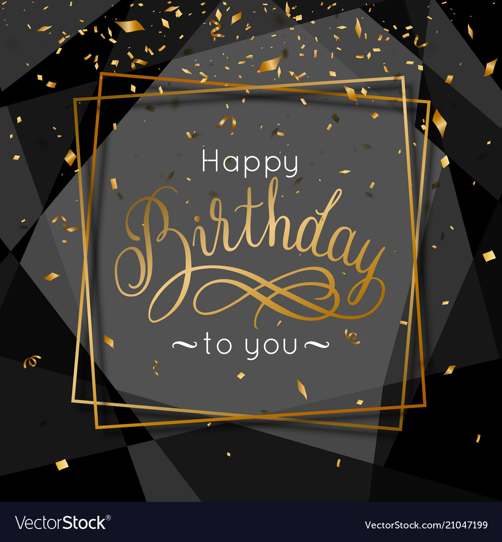 Birthday congratulations greeting card with