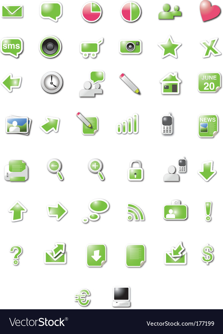 Blog icons vector image