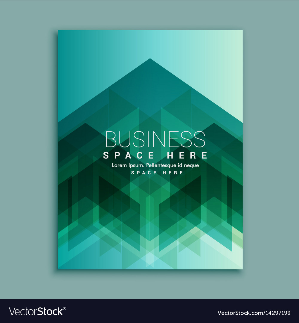 Business magazine cover page with abstract shapes vector image