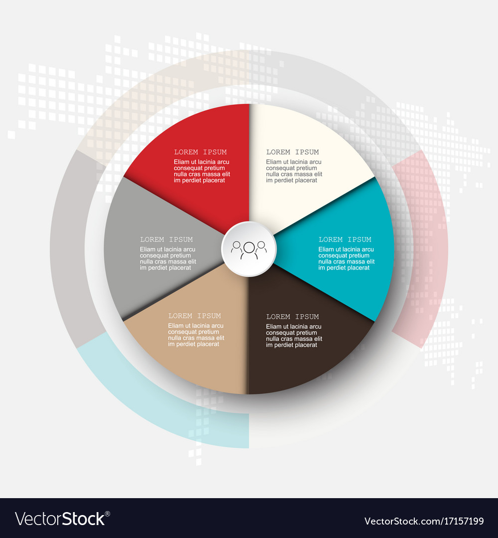 Business template infographicsthe circle is