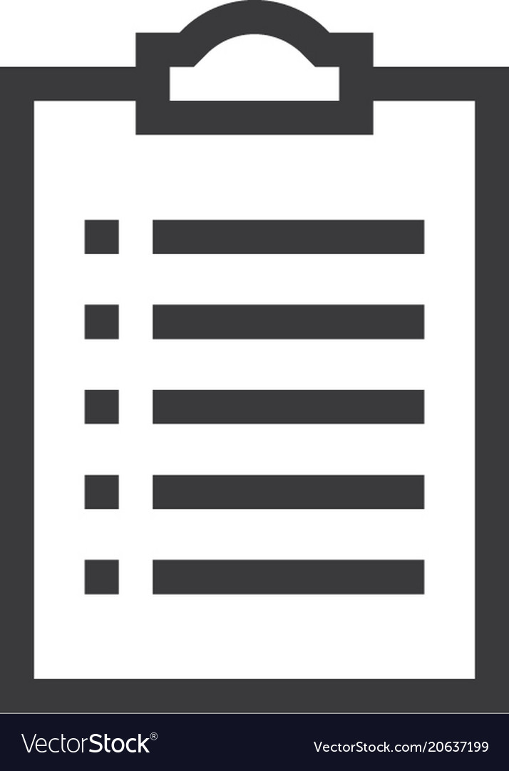 Check list outline icon isolated document paper