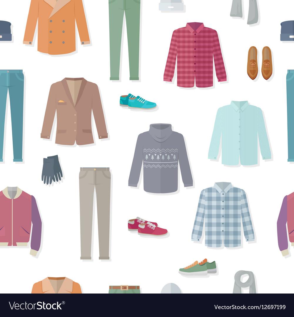 Clothing seamless pattern