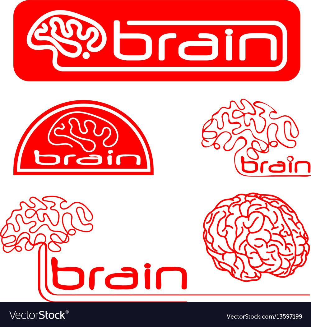 Logotypes of brain