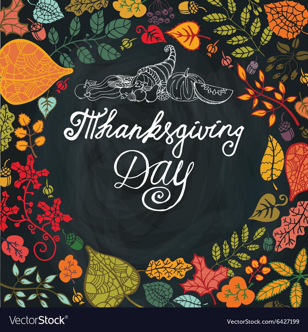 Thanksgiving dayAutumn leaves in circle