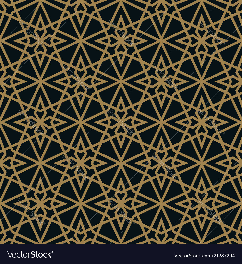 Abstract star geometric pattern with lines a