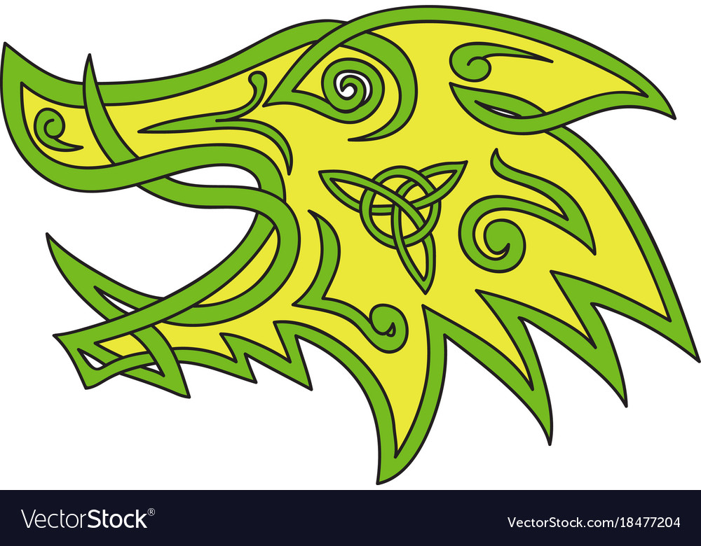 Boar head celtic knot