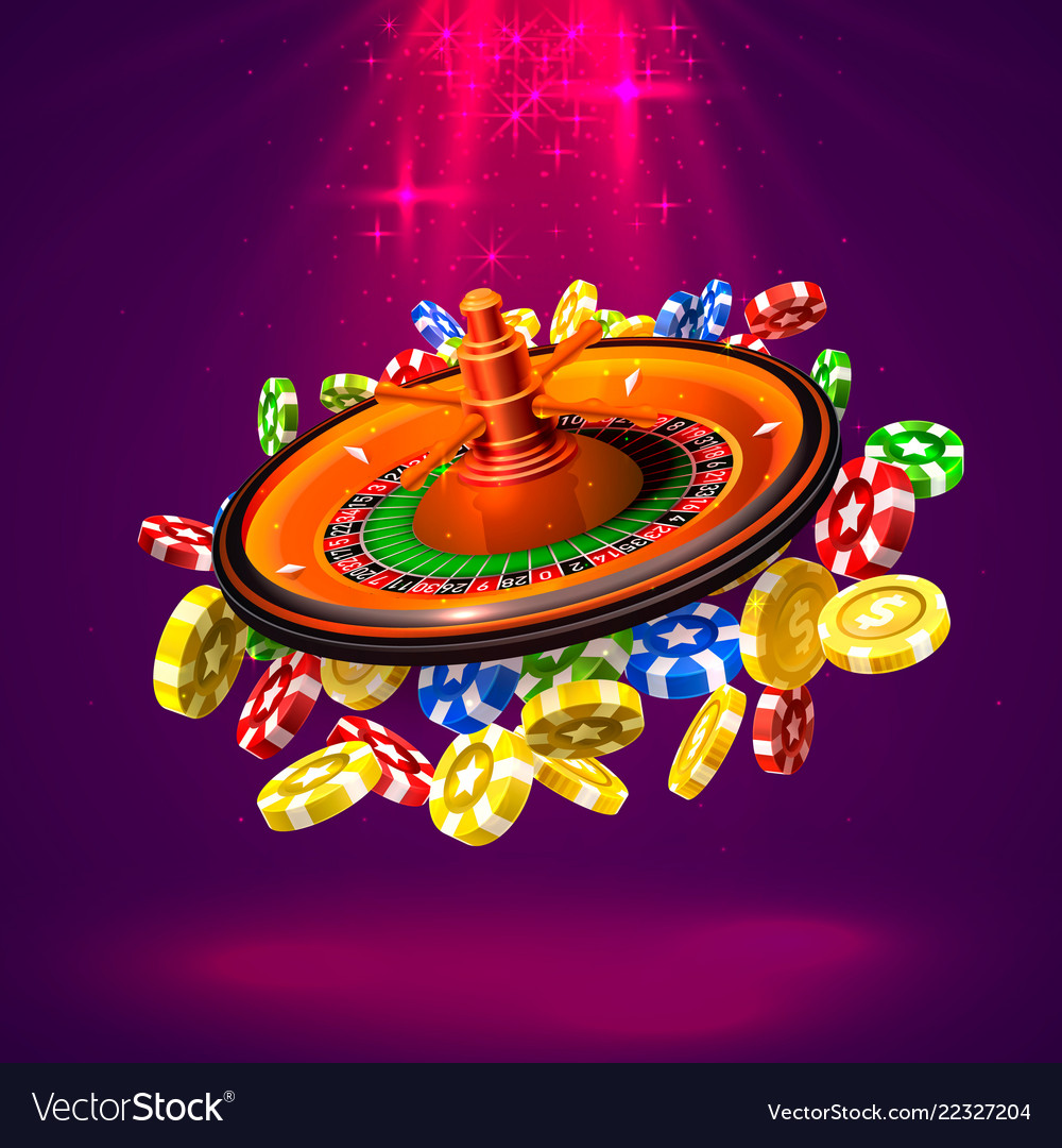 Casino roulette big win coins background