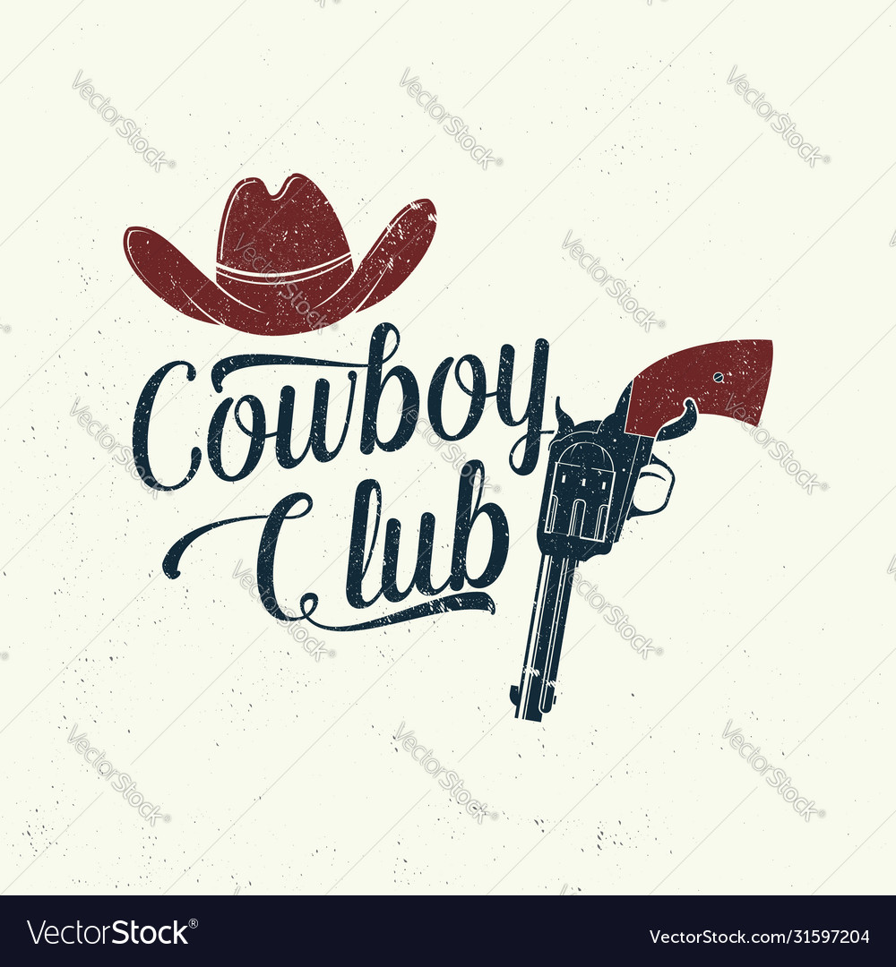 Cowboy club badge t-shirt ranch rodeo