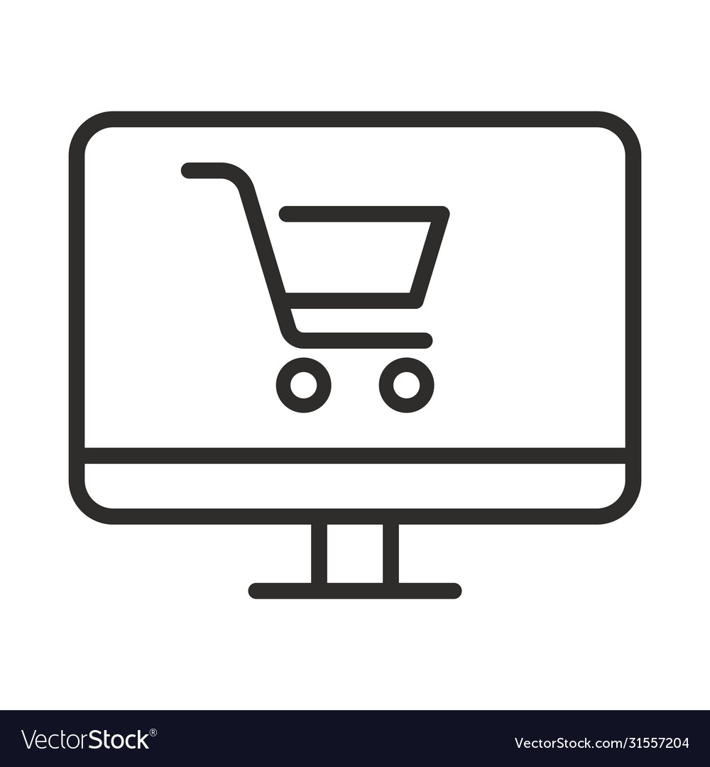 Online shopping icon outline online shopping icon