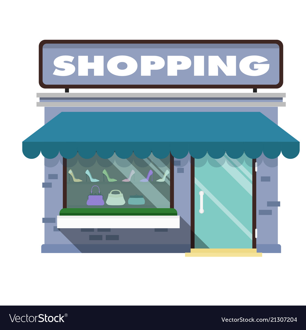 Shopping infographic shopping store background vec