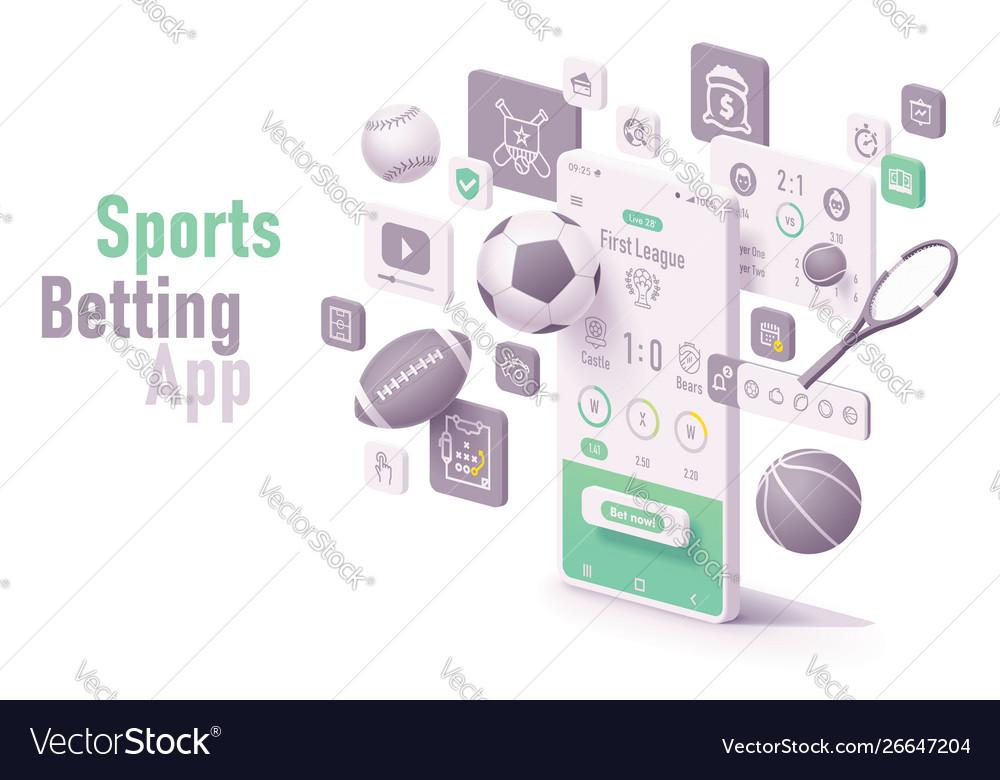 Sports betting app concept