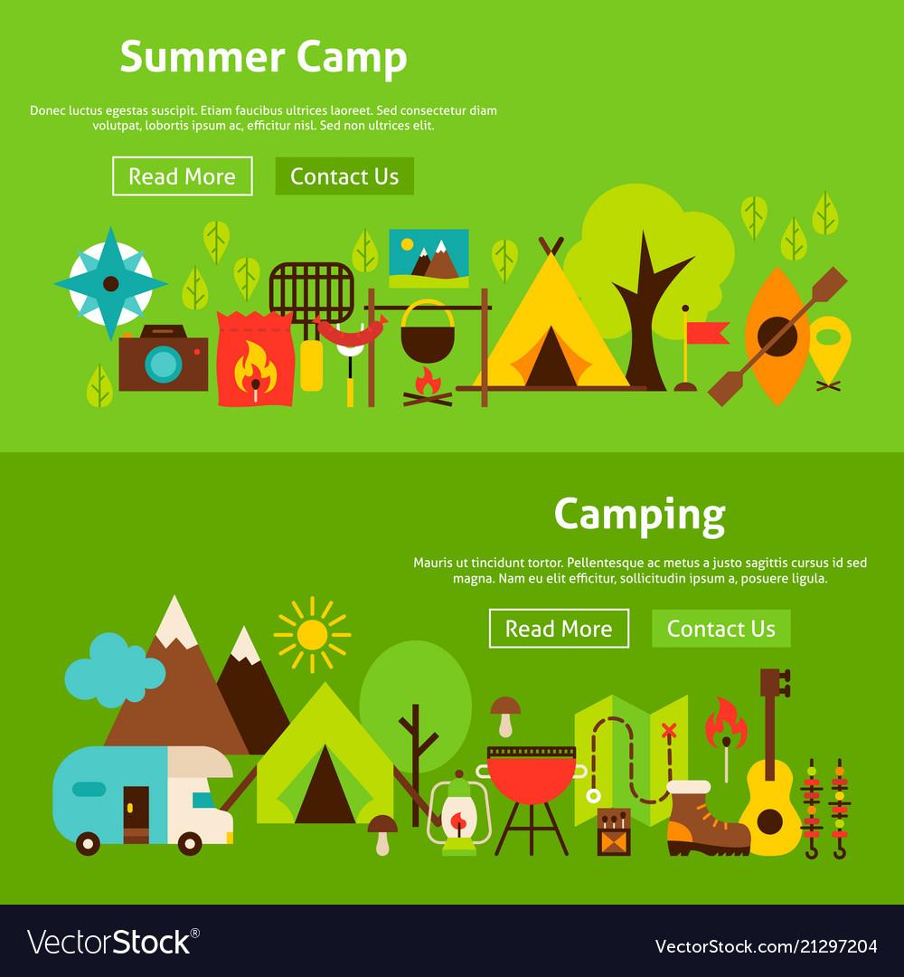 Summer camp website banners