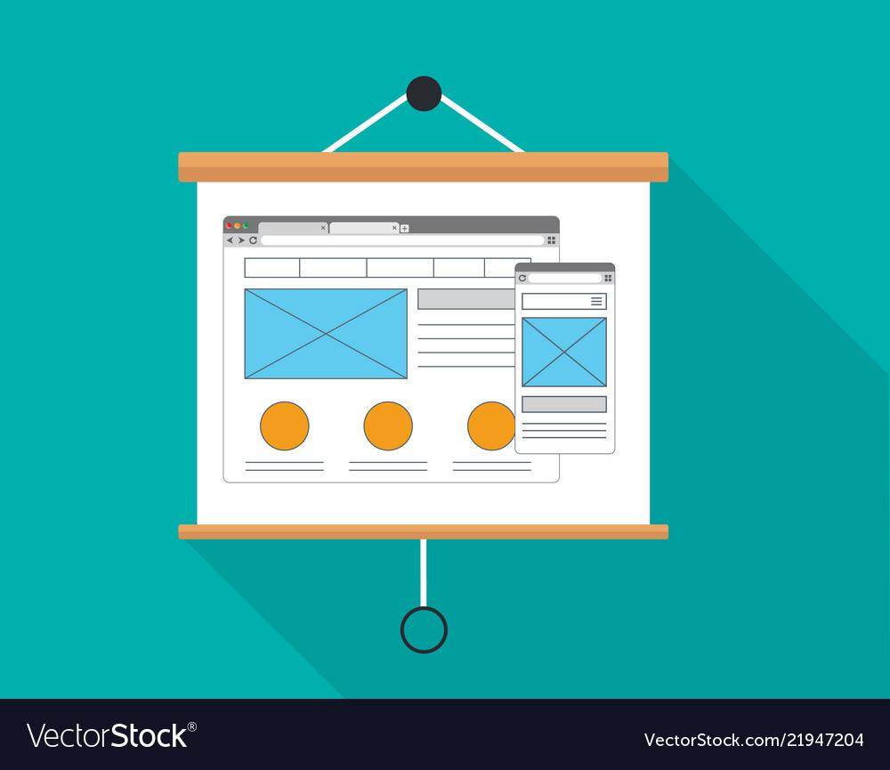 Ux user experience presentation board design
