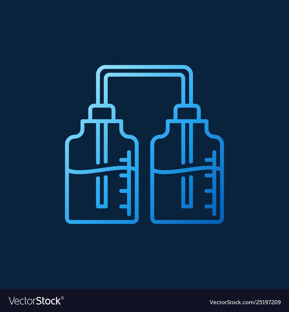 Chemistry bottles blue chemistry concept