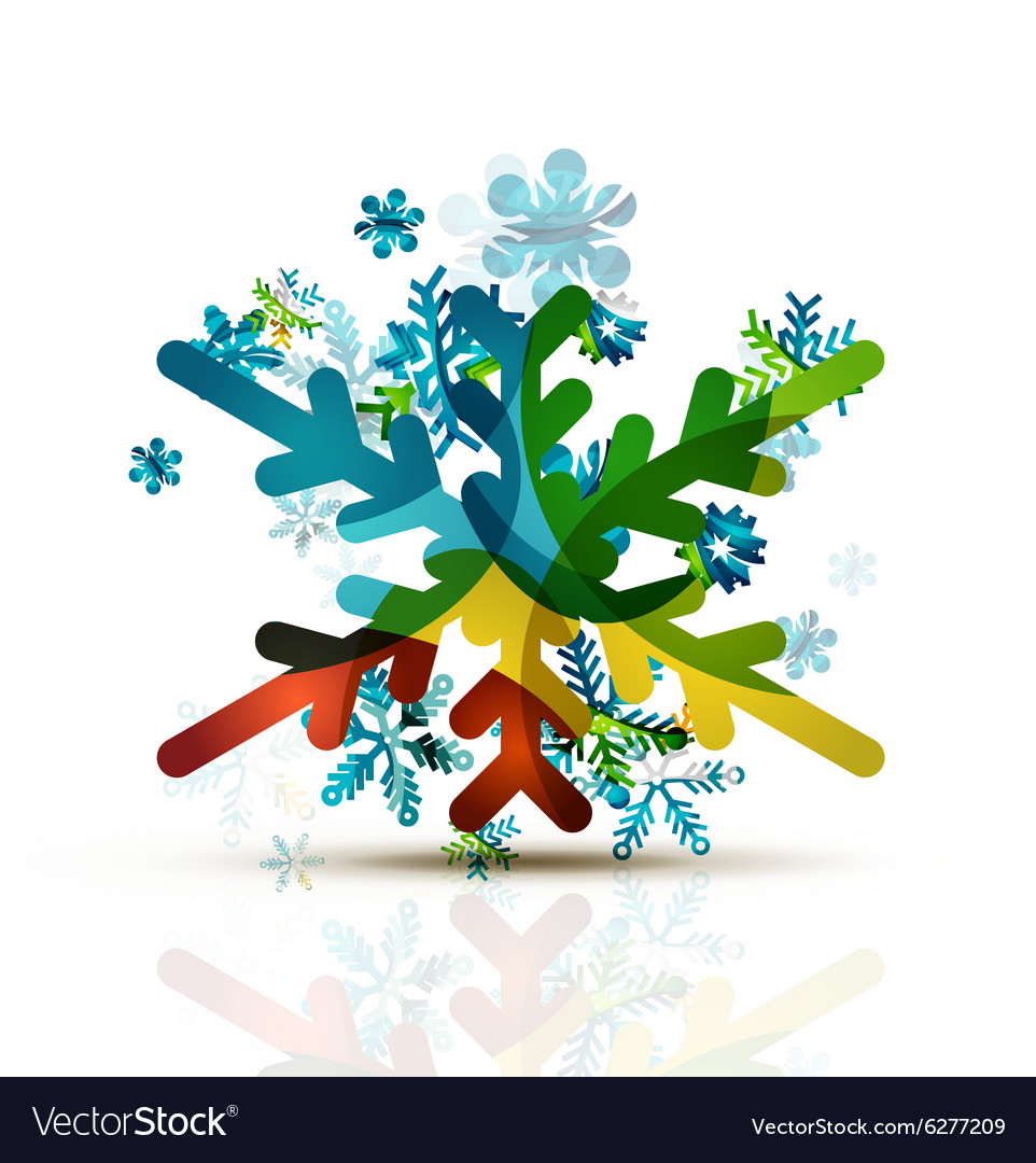 Christmas decorated modern snowflake icon