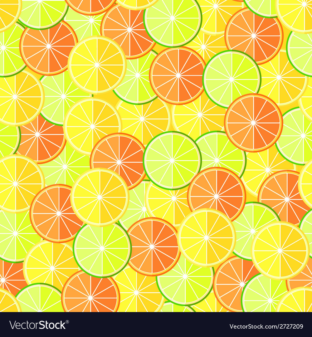 Citrus seamless pattern with lemons oranges and