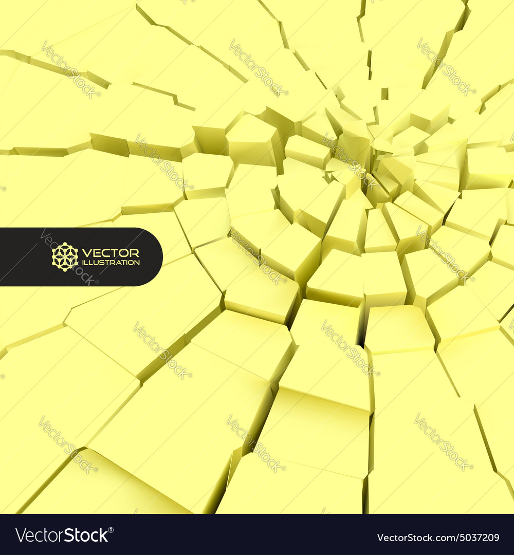 Cracked Background 3d