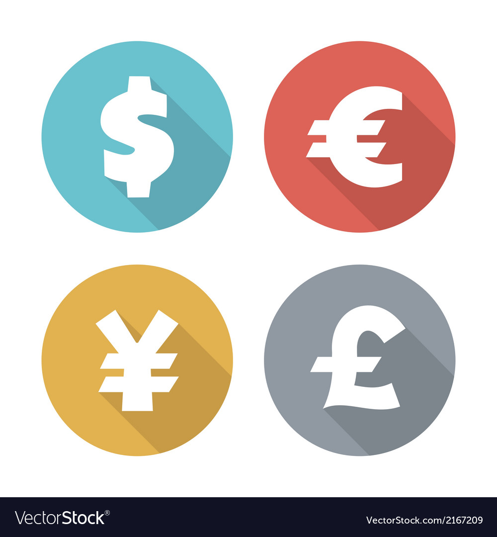 Currency modern flat icons