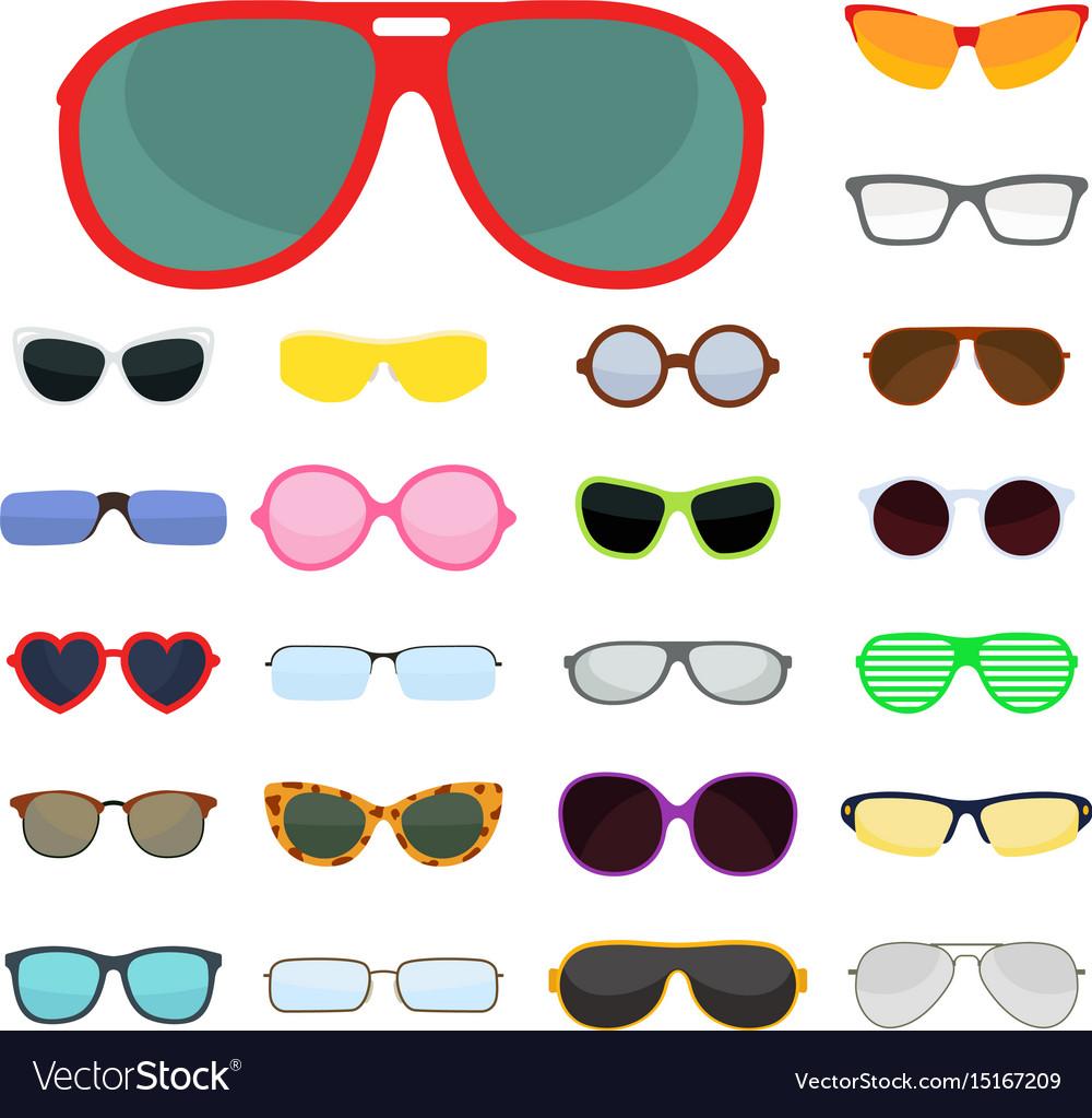 Fashion set sunglasses accessory sun spectacles