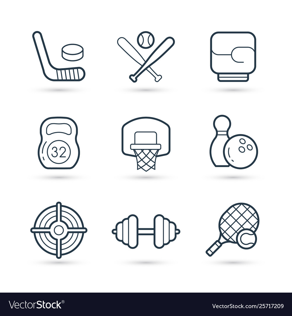 Icon set sport and games