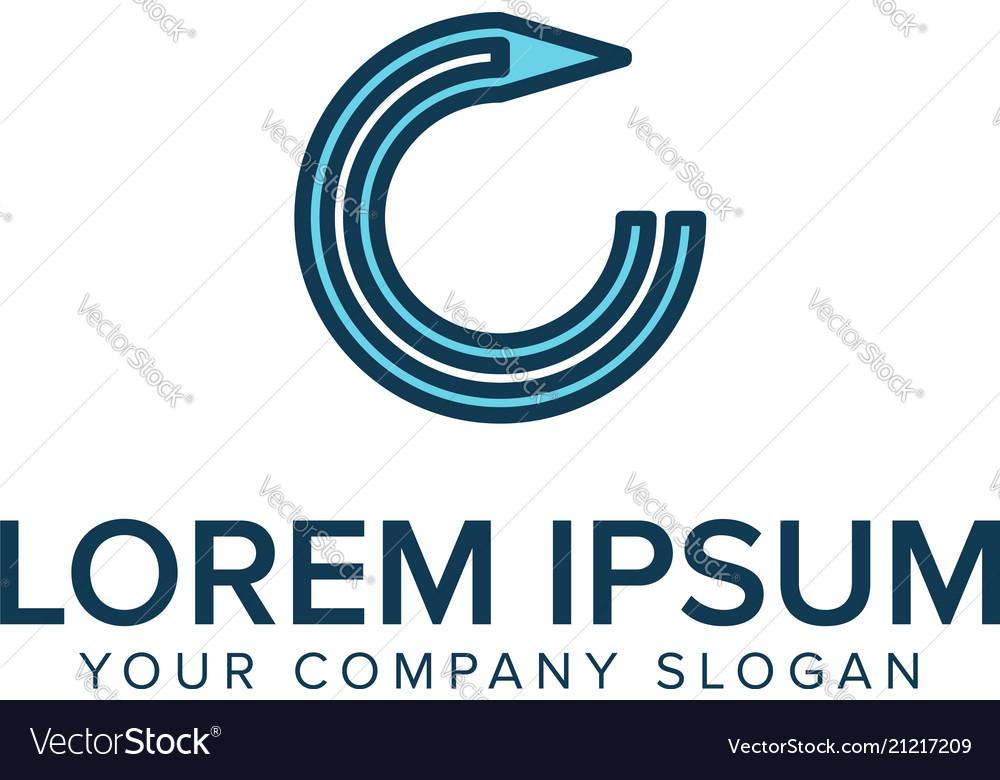 pen logo education logos design concept template vector image