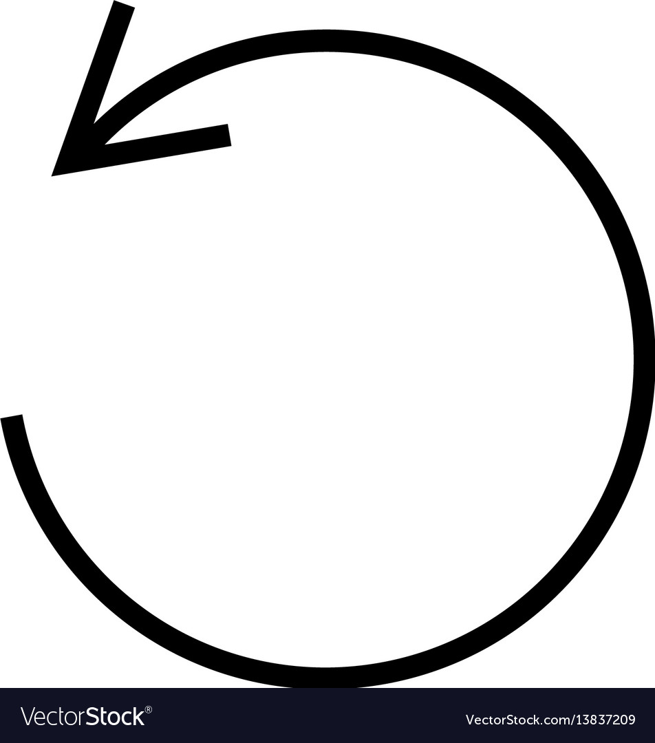 Rotate tool icon curved circle arrow