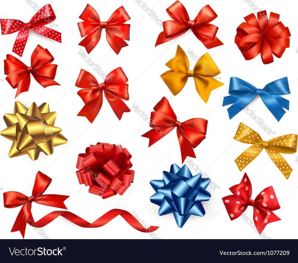 Satin gift bows and ribbons