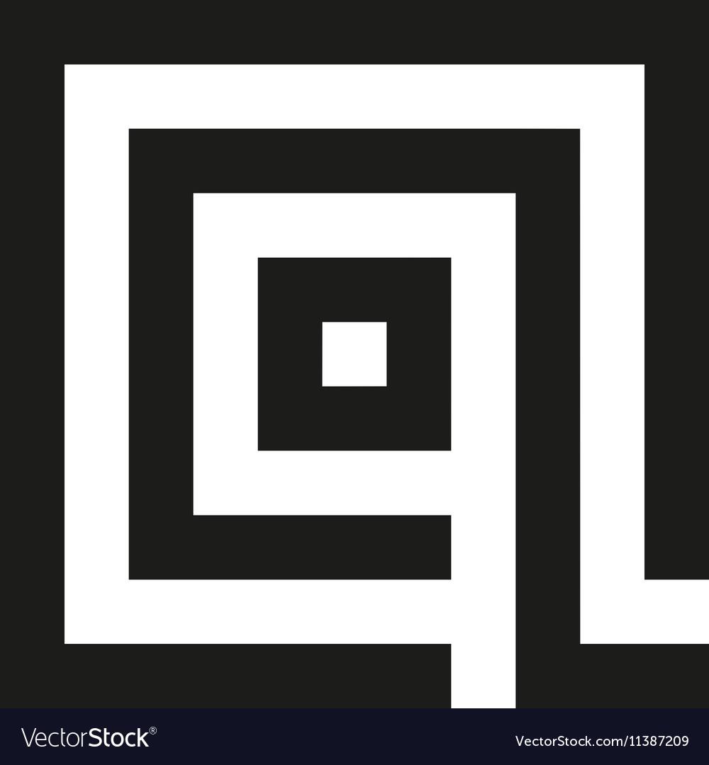 Unusual geometric letter Q Architecture vector image