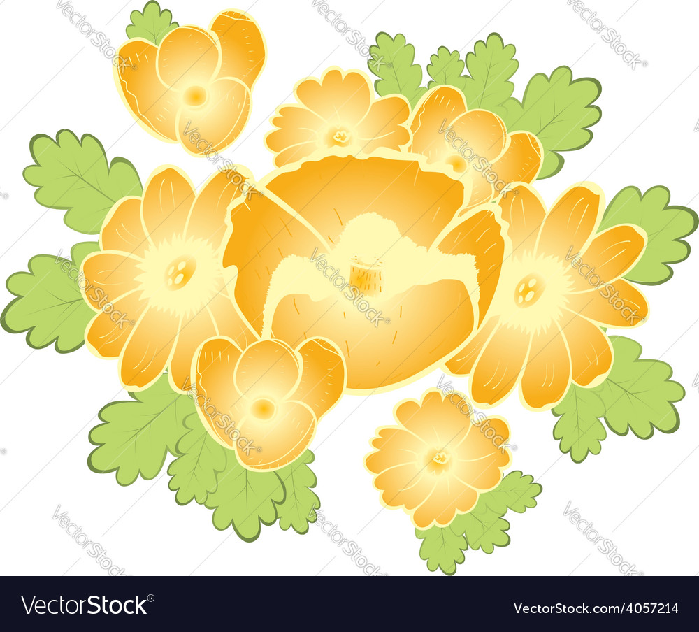 Abstract seamless pattern with golden flowers