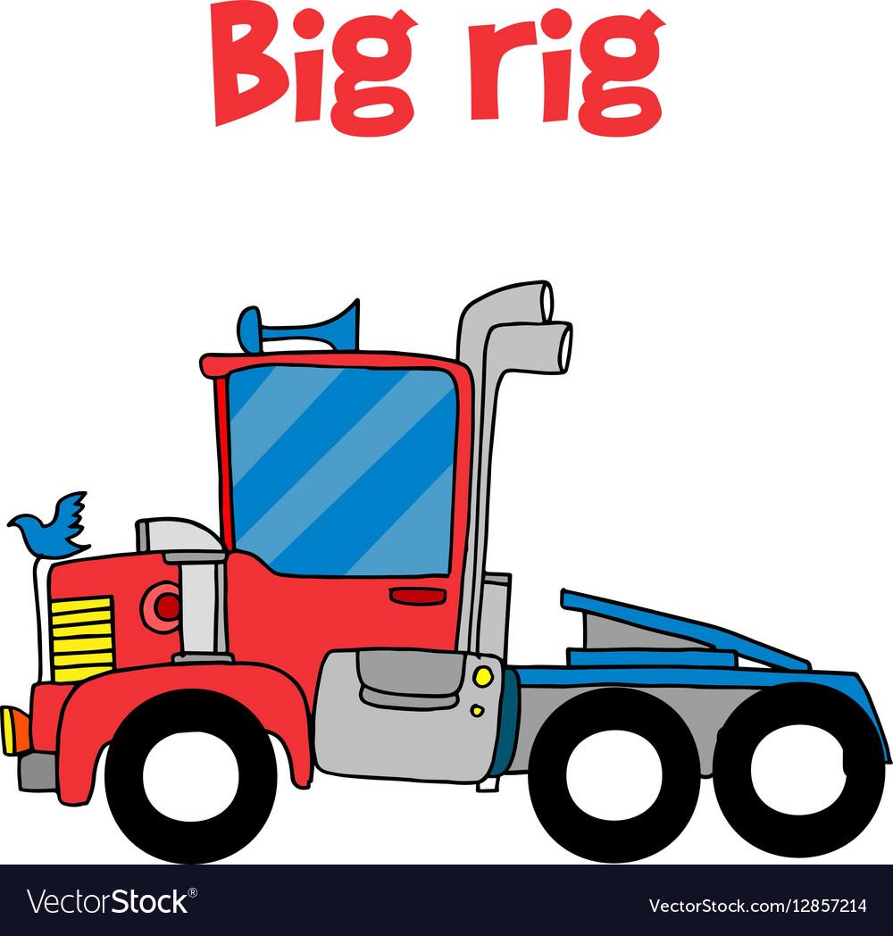 Cartoon big rig of vector image