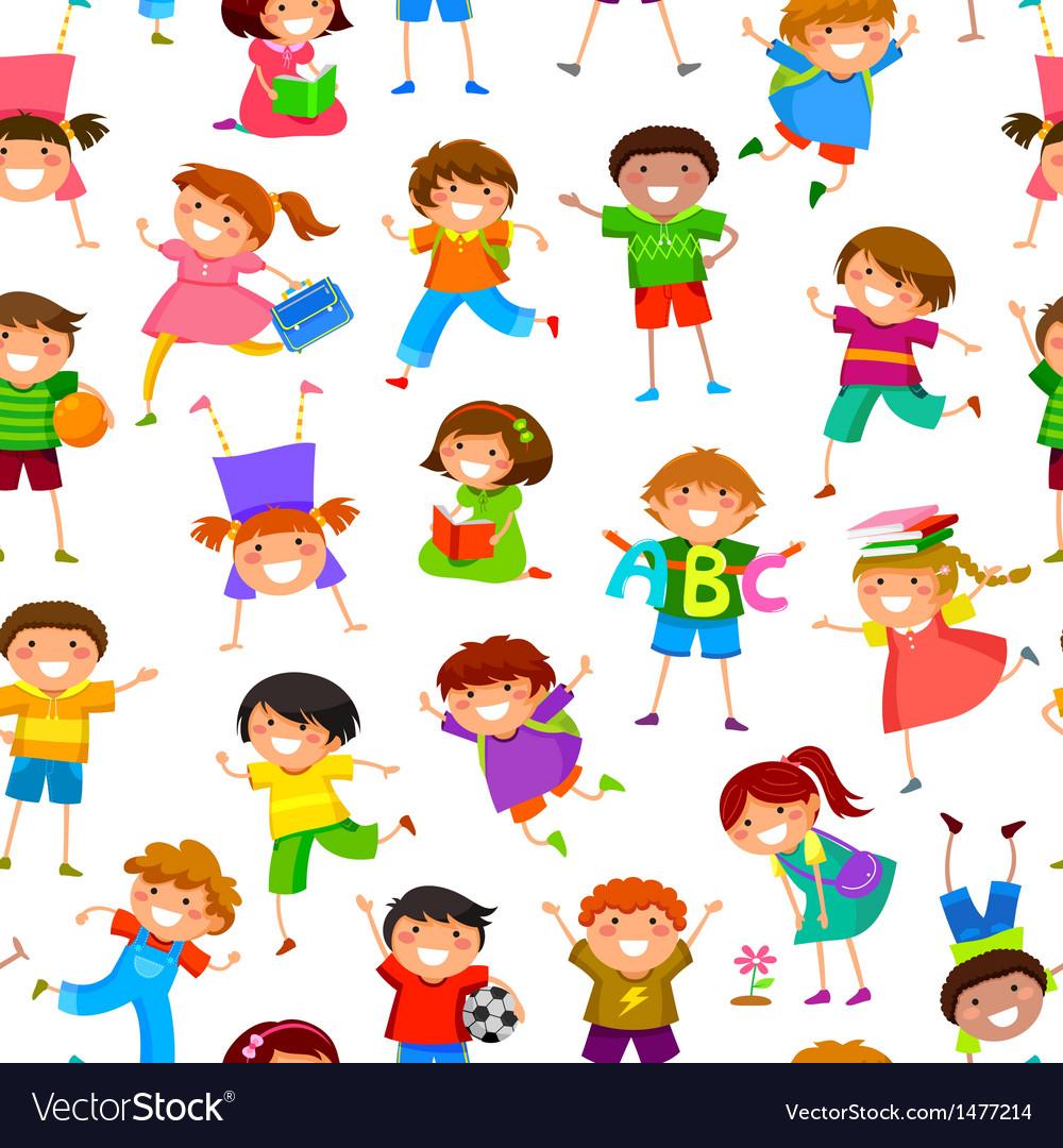 Cartoon kids pattern