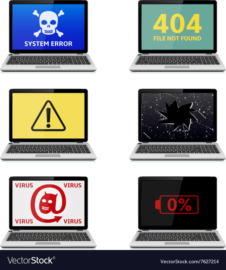 Error Laptop vector image