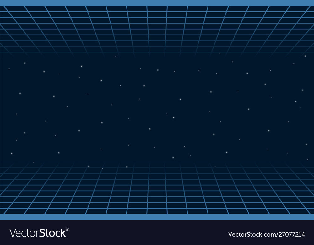 Horizontal matrix grid in space futuristic